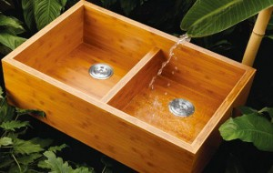 Thinking OUT OF THE BOX: Bamboo sink