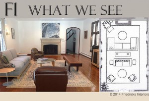 WHAT WE SEE: A Grand Family/ Living Room – A transitional room for entertaining