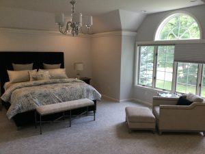 Bedford Home: New paint, carpet, chandelier, furnishings, closets and bedding